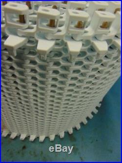 INTRALOX, PLASTIC CONVEYOR BELT, SERIES 2400, RADIUS With HOLD DOWN, 13 X 20