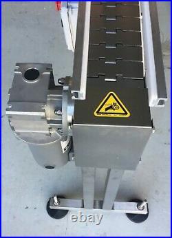 Inline Conveyor Table Top Heat Resistant Stainless Steel Belt 60L X 4.5 W