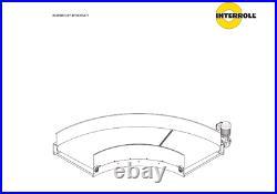 Interroll Portec, conveyor belt 90 degree, BC4727 No Motor Express Shipping