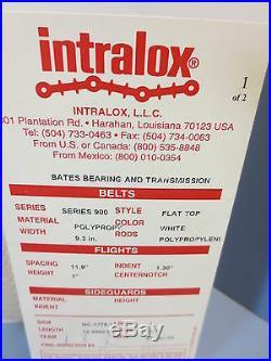 Intralox 900 Series Polypropelene Conveyor Belt 9.3 Wide 13.3' Long 1 Flights