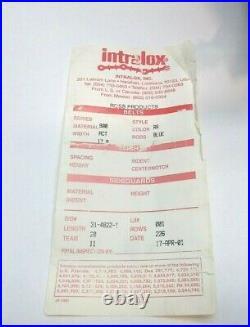 Intralox Mattop 900 Series Raised Rib Blue 1.07 Pitch Straight Conveyor Belt