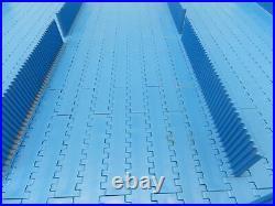 Intralox S1600-OHFT Flat Top Flighted Incline Conveyor Belt BLUE Poly 36x 90
