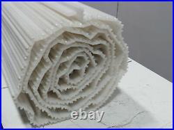 Intralox S1600 Plastic Incline Conveyor Belt Nub Top Cleated 26 x 14' White