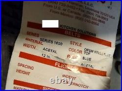 Intralox Series 1600 Conveyor Belt, Blue, 12 Wide, 20.02' Long (240 Rows)
