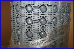 Intralox Series 400 Conveyor Belt, 28 Wide, 10 Long, 60 Rows, 30° Roller Top