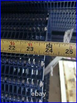 Intralox series 100 Flush Grid Plastic Modular Conveyor Belt Chain 24 x 25