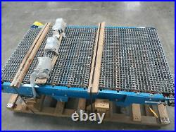 London Engineering 36x 6' Steel Flat Wire Belt Roller Conveyor 1Hp End Drive