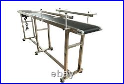 Long PVC Belt Conveyor Packaging Machine with Two Fences 82.7''x7.87'' 110V 120W