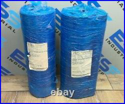 (Lot of 2) MIDWEST INDUSTRIAL RUBBER BLUE CONVEYOR BELTING 24 FT 7 IN X 18 IN