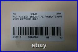 Midwest Industrial Rubber 13183 Conveyor Belt 43ft X 26in