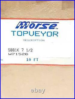 Morse S881K 7-1/2 10FT Topveyor Steel Table Top Conveyor Belt
