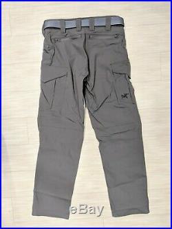 NEW Arc'teryx LEAF Combat Pants Gen 2 Medium Wolf Gray with Conveyor Belt