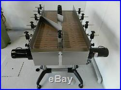 NEW! Globaltek Stainless Steel Dual Lane Conveyor with Plastic Table Top Belt