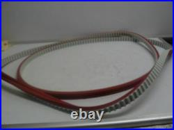 NEW JI-1370H078- US-L-G TOOTHED Timing Belt Red Linatex Cover with Groove