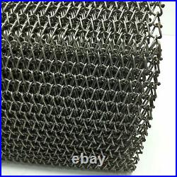 New Ashworth Balanced Weave Stainless Steel Wire Conveyor Belt, W 16, L 25