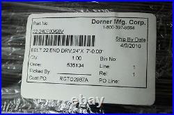 New Dorner 22-240700/08V End Drive Conveyor Belt for 24 Wide x 7' Long Conveyor