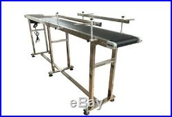 New Foldable Electric Conveyor PVC Belt 110V Size 82.6''x7.87'' with 2 Guardrails