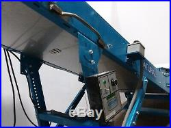 New London Cleated Incline Parts Chip Belt Conveyor 120v Variable Speed