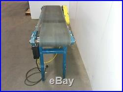 New London Engineering 12 Belt 60 Slider Bed Belt Conveyor Variable speed 120v