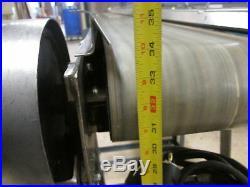 New London Engineering Model 500-08 6.5 Wide 34 Discharge Flat Conveyor Belt