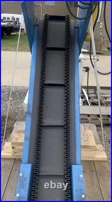 New London Engineering Powered Inclined Belt Conveyor Ybm #12736