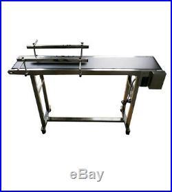 Open Box Conveyor 59''x 8'' Electrical Rubber PVC Belt with Guard Bar Transfer