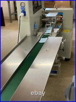 PACKAGING MACHINE WithFEED CONVEYOR BELT + Plastic film for 1 MIL Bags