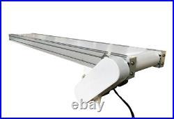 PVC Belt Conveyor Mesa 110V White 59inch Length 7.8inch Width 0-20m/min New