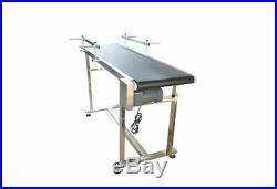 PVC Flat Conveyor Belt System for Transport Length 59'' Belt Width 15.7'' 110V