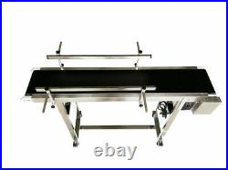 PVC Flat Conveyor Belt Transport Conveyor System Length 47.2'' Belt Width 7.8'