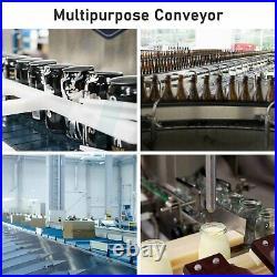 PVC Motorized Heavy Duty Stainless Steel Belt Conveyor Machine Single Guardrail