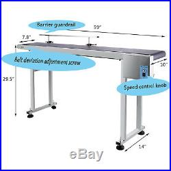 Power Slider Bed PVC Belt Electric Conveyor Stainless Steel Conveying Guardrail