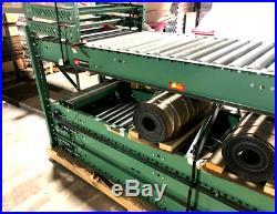 Roach 796 20' Roller Bed Conveyor with Stands, Motor & Belt New on Pallet