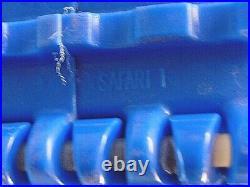 SAFARI, PLASTIC CONVEYOR BELT, BLUE, With 10 2 FLIGHTS, 117L, 8 W