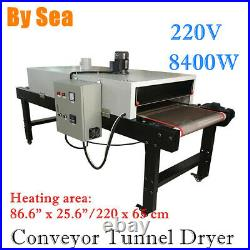 Sea220V 8400W Conveyor Tunnel Dryer 9.8ft. Long x 25.6 Belt for Screen Printing