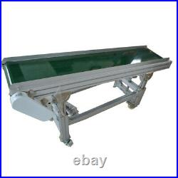 Second Hand! Used PVC Inclined Wall Conveyor Belt 110V 59(L)11.8(W) US Stock
