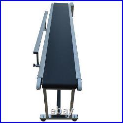 Single Guardrail PVC Conveyor Belt 110V Electric Convey Machine Packing Machine