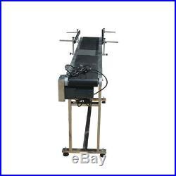 Size59''x 7.8'' 110V 60W PVC Belt Conveyor with Double Steel Guardrail