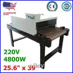 Small T-shirt Conveyor Tunnel Dryer 5.9ft Longx25.6 Belt for Screen Print 220V