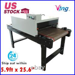 Small T-shirt Conveyor Tunnel Dryer 5.9ftx25.6 Belt for Screen Print 220V 4800W