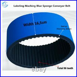 Spare Parts of Labeling Machine Blue Sponge Conveyor Belt For Labeler Sticker