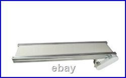 TECHTONGDA 110V 47.27.8 White PVC Belt Conveyor Mesa Adjustable Speed