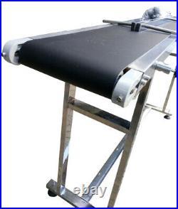 TECHTONGDA Conveyor Belts 59''x 7.8'' Powered Rubber PVC Belt Double Guardrail