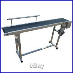 TECHTONGDA PVC Belt Conveyor 110V with Single Guardrail Stainless Steel