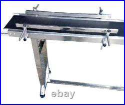 TECHTONGDA PVC Belt Conveyor with Double Guardrail 110V Stainless Steel