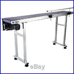 Top-grade Conveyor 110V Powered Rubber PVC Belt 59''x 7.8'' New