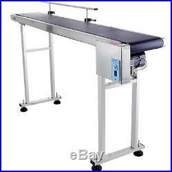 Top-grade Conveyor 110V Powered Rubber PVC Belt 59''x 7.8'' Speed Adjustable