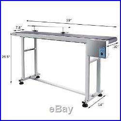 Top-grade Conveyor 110V Powered Rubber PVC Belt 59x 7.8 Local