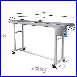 Top-grade Conveyor 110V Powered Rubber PVC Belt 59x 7.8 Speed Adjustable
