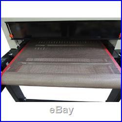 US 220V Screen Printing Conveyor Tunnel Dryer 5.9ft. Long x 25.6'' Belt T-shirt